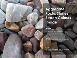 Aggregate Rocks Stones Beach Colours Image