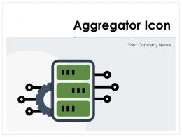 Aggregator Icon Business Intelligence Manufacturing Combination Process