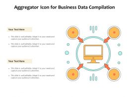 Aggregator Icon For Business Data Compilation
