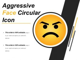 Aggressive Face Circular Icon