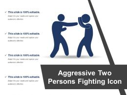 Aggressive Two Persons Fighting Icon