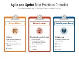 Agile And Sprint Best Practices Checklist