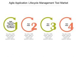 Agile Application Lifecycle Management Tool Market Ppt Powerpoint Presentation Slides Example Introduction Cpb