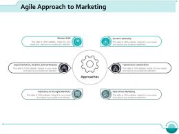 Agile Approach To Marketing Ppt Styles Infographic Template