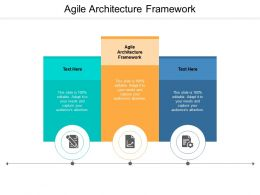 Agile Architecture Framework Ppt Powerpoint Infographic Template Guide Cpb