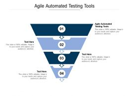 Agile Automated Testing Tools Ppt Powerpoint Presentation Gallery Graphic Images Cpb