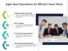 Agile Best Operations For Efficient Team Work