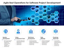 Agile Best Operations For Software Project Development