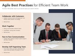 Agile Best Practises For Efficient Team Work