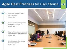 Agile Best Practises For User Stories