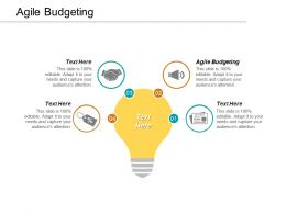 Agile Budgeting Ppt Powerpoint Presentation Layouts Diagrams Cpb