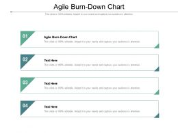 Agile Burn Down Chart Ppt Powerpoint Presentation Model Graphic Images Cpb