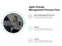 Agile Change Management Process Flow Ppt Powerpoint Presentation Inspiration Gridlines Cpb