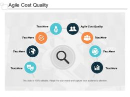 Agile Cost Quality Ppt Powerpoint Presentation Slides Background Cpb