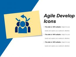 Agile Develop Icons Sample Of Ppt