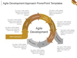 Agile Development Approach Powerpoint Templates