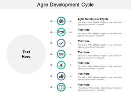 Agile Development Cycle Ppt Powerpoint Presentation Infographics Graphics Tutorials Cpb
