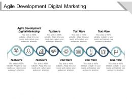 Agile Development Digital Marketing Ppt Powerpoint Presentation Gallery Cpb