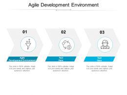 Agile Development Environment Ppt Powerpoint Presentation Slides Cpb
