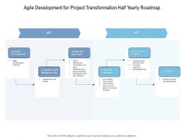 Agile Development For Project Transformation Half Yearly Roadmap