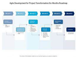 Agile Development For Project Transformation Six Months Roadmap