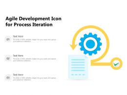 Agile Development Icon For Process Iteration