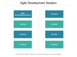 Agile Development Iteration Ppt Powerpoint Presentation Ideas Cpb