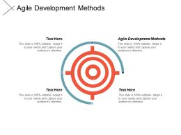 Agile Development Methods Ppt Powerpoint Presentation Gallery Shapes Cpb