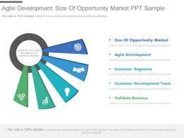 Agile Development Size Of Opportunity Market Ppt Sample