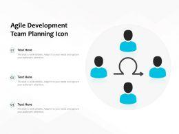 Agile Development Team Planning Icon