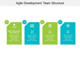 Agile Development Team Structure Ppt Powerpoint Presentation Gallery Cpb