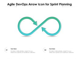 Agile Devops Arrow Icon For Sprint Planning