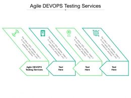 Agile DEVOPS Testing Services Ppt Powerpoint Presentation File Summary Cpb