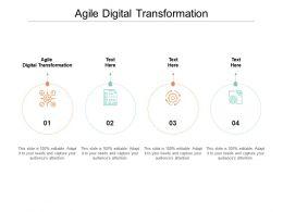 Agile Digital Transformation Ppt Powerpoint Presentation Summary Display Cpb