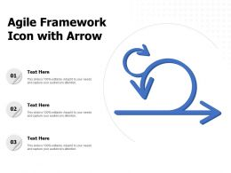 Agile Framework Icon With Arrow