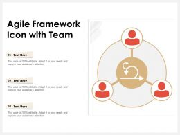Agile Framework Icon With Team