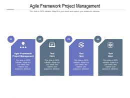 Agile Framework Project Management Ppt Powerpoint Presentation Outline Portfolio Cpb