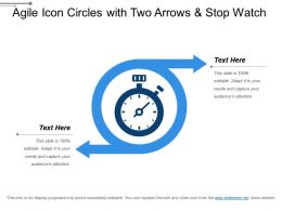 Agile Icon Circles With Two Arrows And Stop Watch