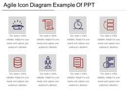 Agile Icon Diagram Example Of Ppt