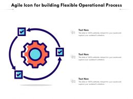 Agile Icon For Building Flexible Operational Process