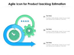 Agile Icon For Product Backlog Estimation