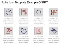 Agile Icon Template Example Of Ppt