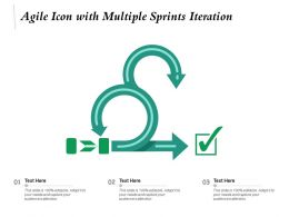 Agile Icon With Multiple Sprints Iteration