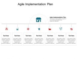 Agile Implementation Plan Ppt Powerpoint Presentation Gallery Visual Aids Cpb