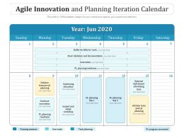 Agile Innovation And Planning Iteration Calendar