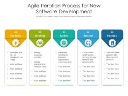 Agile Iteration Process For New Software Development