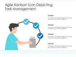 Agile Kanban Icon Depicting Task Management