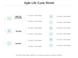Agile Life Cycle Model Ppt Powerpoint Presentation Visual Aids Cpb