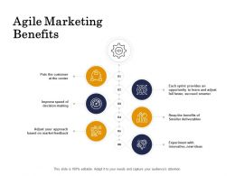 Agile Marketing Benefits Center Ppt Powerpoint Presentation Outline