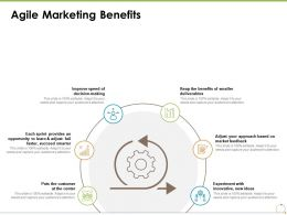 Agile Marketing Benefits Ppt Powerpoint Presentation Slides Slideshow